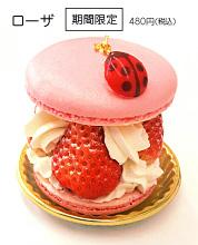 春限定イチゴのマカロンケーキ