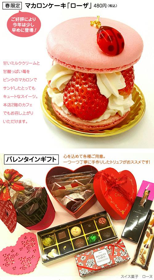 春限定マカロンケーキ「ローザ」とバレンタインギフト