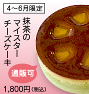 4-6月限定抹茶のマイスターチーズケーキ